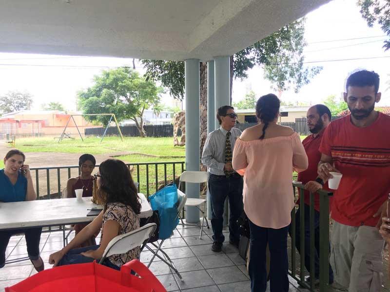 Arq. Ana Marie Mediavilla Robinson; Arq. Eydira Jiménez Rivera; Arq. Cristina Algaze Beato; Dr. Fernando Abruña, FAIA; Arq. Yesenia D. Rosario; Hemán M. Montes Rodríguez; Jonathan Álvarez, presidente Eli Foundation of Puerto Rico