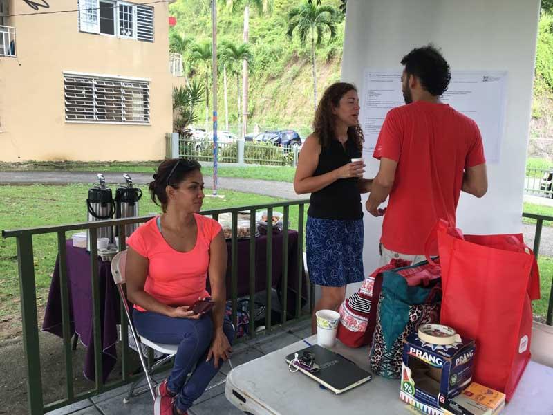 Yahaira de León Ramos, directora del Comité de Redes Sociales CODDI; Dra. Omayra Rivera Crespo, AIA; Jonathan Álvarez, presidente Eli Foundation of Puerto Rico