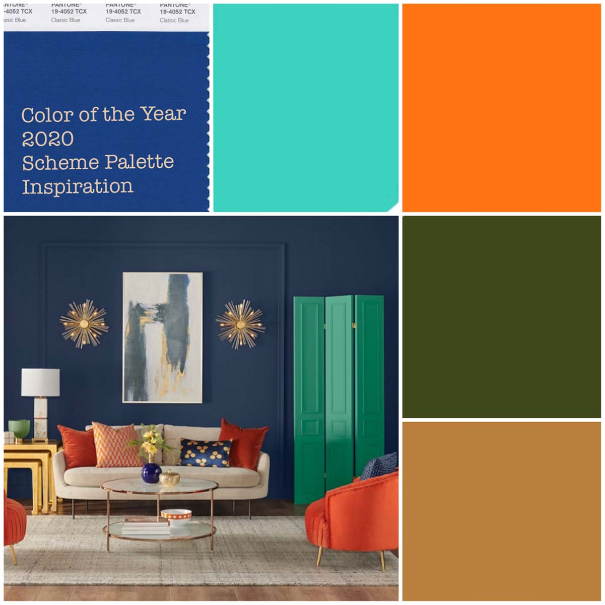 color of the year 2020 scheme palette inspiration